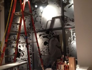 bar area painted nyc